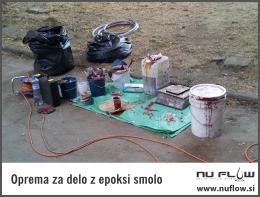 oprema za delo z epoksi smolo nuflow